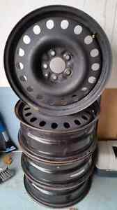 "17"" steel rims Kitchener / Waterloo Kitchener Area image 1"