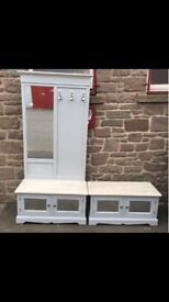Shabby chic 2 part hall stand