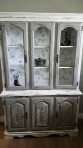 Refinished distressed China cabinet