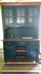 China cabinet with wine rack
