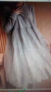 pretty grey dress...never been worn