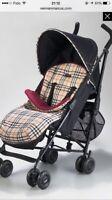 Authentique edition limited poussette stroller Burberry Maclaren