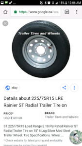 Wanted. 225/75R15 6 bolt trailer tire