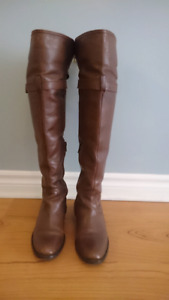 Bravo browns leather knee-high boots