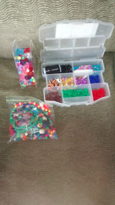 Beads and Rubbermaid Organizer