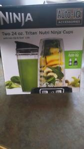 Two 24 oz tritan ninja cups