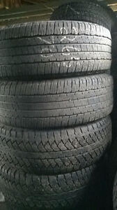 Two Pairs of  P265 70 17 tires.White letter