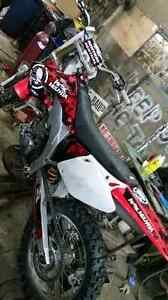 03 crf450r trade for mountain sled Williams Lake Cariboo Area image 3
