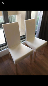 Pair of IKEA white chairs