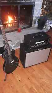 Gibson les paul and and blackstar amp