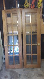 French oak doors