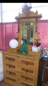 Nice antique dresser with mirror