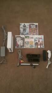 Nintendo Wii console w/games & all hookups lot