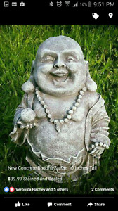 Happy Buddha Statue Made of Concrete  $39.99