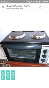 Counter top convection oven with two top burners Bravetti