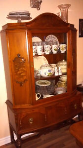 Solid Walnut dining table, chairs and china cabinet Kingston Kingston Area image 3