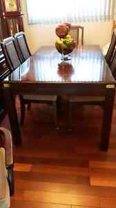 Dining room table and cabnet