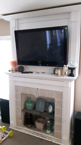 Homemade TV mantle