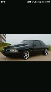 1988 to 1993 Notchback (coupe) Mustang.
