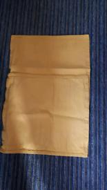 2 yellow cushion covers
