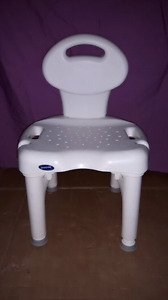 Bath or shower chair with backrest