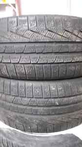Two 235/40/18 Pirelli sottozero winter tires