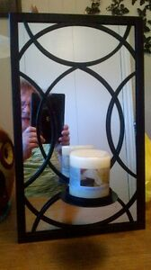 Wrought Iron Mirror with New Vanilla Candle