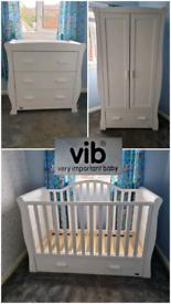 VIB Dax Nursery Set (cot/toddler bed - drawers - wardrobe)