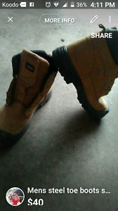 Mens work boot size 13