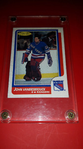 John Vanbiesbrouck rookie hockey card