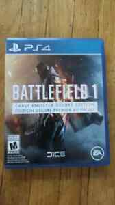 PS4 battlefield 1 early enlisted deleux edtion mint 50$