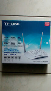 TP Link 300 Mbps Wireless N, ADSL2+ Modem Router for sale.