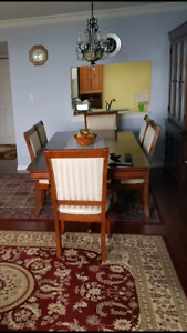 Dining table & chairs!! Must go! Price negotiable
