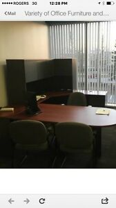 Executive desk set ,hutch and return with chair ( 2 available )