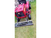 10hp ride on mower with snow blade