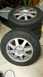 """4 - 15"""" tires and rims"""