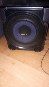 Sub, 2 speakers and receiver. Sony