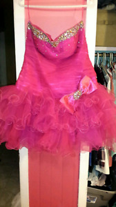 Sparkly fun pink formal dress