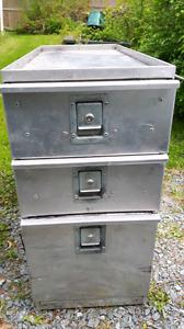 Aluminum locking drawers for work truck or van