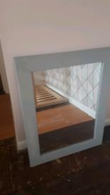Grey large mirror