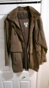 Women's suede coat size medium fits like Lg/XL