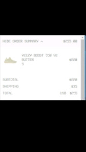 Yeezy boost 350 v2 butter size 5
