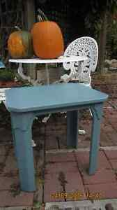 Two Bewitched Blue End Tables