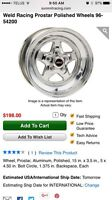 Looking for weld prostar rims