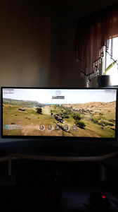 Lg 34 inch gaming monitor with free sync