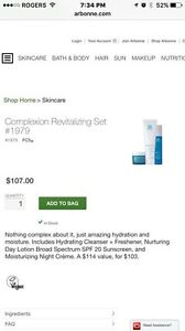 Arbonne FC5 cleanser, day and night cream