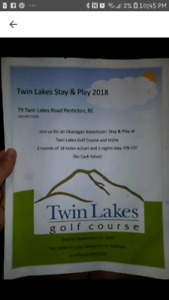 Twin lakes stay and play