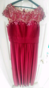 Burgundy Dress Size 16-18