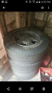 Gmc canyon rims and tires