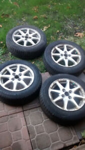 Set of 4 tires and rims 175/65 R14 4x100 bolt Michelin X-Ice Xi3